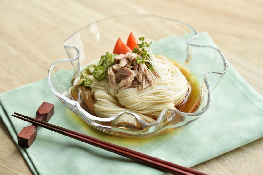 ツナのっけ素麺