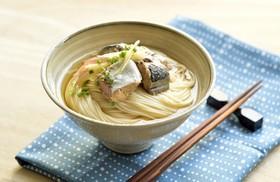 サバ水煮のっけ素麺
