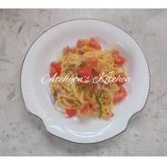 簡単時短カラフル夏野菜の冷製パスタ