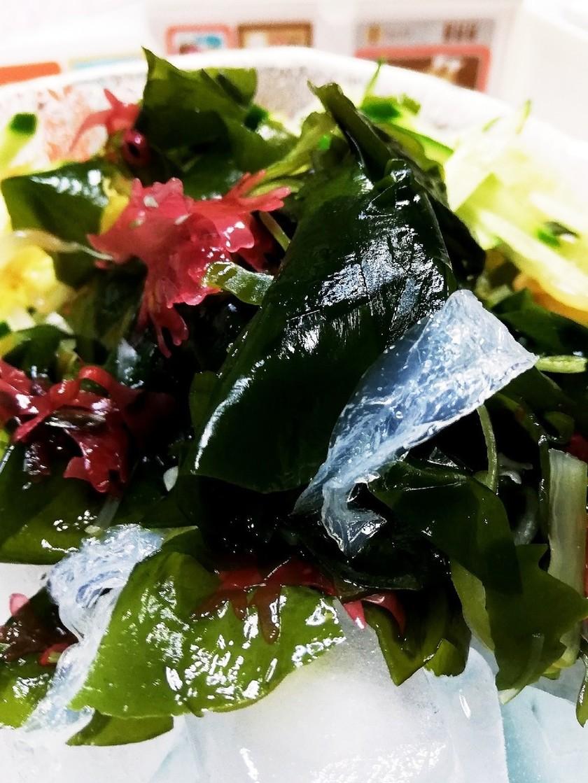 氷上の海藻サラダ