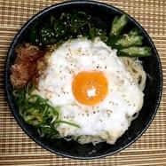メレンゲ卵♪釜玉風ぶっかけ素麺♪
