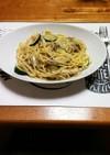 ズッキーニを使ったペペロンチーノ