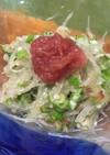 刺身の褄/剣を使った大根オクラのサラダ