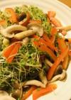 赤パプリカとスプラウトのサッと炒めサラダ