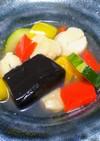 ごま豆腐を使う野菜スープ