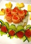 可愛くデコ♪かざり寿司