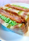 レトルトカレーで♪カレーハムカツ サンド