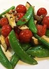 トマトと夏野菜のガーリック炒め