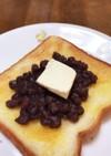 名古屋名物小倉トースト+クリームチーズ♪