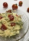 ミニトマト×きゅうり×ゆで卵サラダ