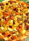 夏野菜のキッシュ ナス、ズッキーニ 枝豆
