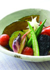 夏野菜の揚げ浸し♪彩り◎栄養◎です!