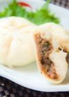 合挽きミンチと小松菜の肉まん⁂お家で簡単