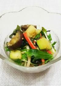 焼きズッキーニと茄子の中華サラダ。
