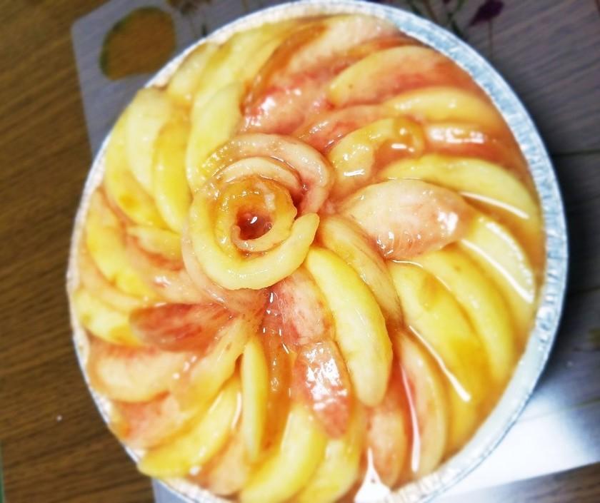 焼かずに簡単桃タルト