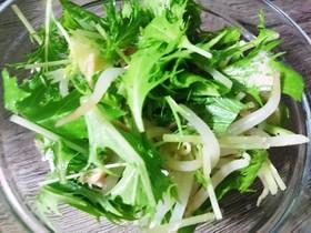 水菜ともやしサラダ