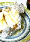 鱈のホイル焼き&長ネギとミョウガの味噌汁