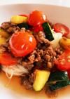 ミニトマトとズッキーニのぶっかけ素麺