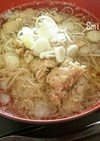 簡単☆鶏モモ肉たっぷり(冷)ひやむぎ♪