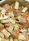 レンコンとウィンナーのピリ辛サラダ