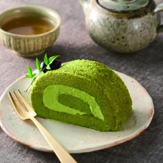 桑抹茶のロールケーキ♪