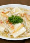 豆腐のかにあんかけ風スープ