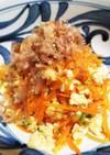麺つゆで✿人参の炒り豆腐あえ