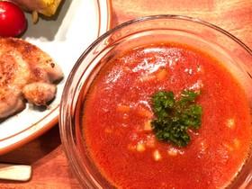 完熟トマトジュースで簡単!ガスパチョ