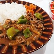 甘長ピーマン夏野菜カレー