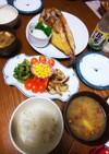 夏バテ予防☺️味噌汁♥️ゴーヤ☺️定食