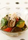 干し椎茸と夏野菜の煮物
