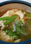 ふわとろサボテン入り卵スープ