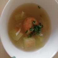 西瓜の皮・海老・甘酒入りスープ