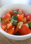 トマトとバジルの塩麹サラダ