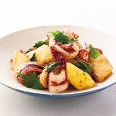 【ガパオ炒め】イカとパインの香り炒め