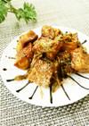簡単✿厚揚げとしめじの海苔の佃煮焼き✿