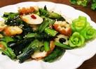 ちくわと小松菜の鶏ガラ醤油炒め