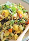 黒千石と野菜と雑穀のスパイシー炒飯