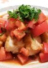 揚げ焼きで◆鶏むね肉のトマトだれソテー