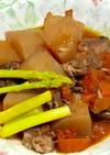 豚肉と大根のトマト煮込み