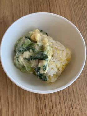 小松菜ときのこの卵あんかけ