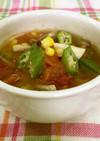 彩り夏野菜の中華スープ*簡単・うま塩