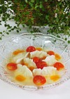 冷製*エビの水餃子トマトスープあんかけ