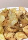 鶏とキャベツのあっさり春雨炒め☆生姜風味