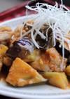 鶏となすのピリ辛味噌炒め
