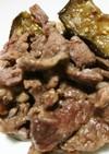 牛こま肉となすのオイスターソース