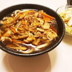 具沢山、麺のスープ(うどん、そうめん)