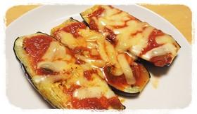 私のおつまみ☆なすのサルサソースチーズ焼