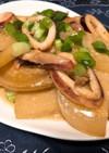 ご飯が進む!イカと大根の醤油マヨ炒め♪