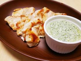 鶏肉のソテー★小松菜チーズソース添え★
